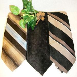 3 Men's Neckties Beau Brummell-Wembley-Gian Mario